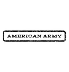 american army watermark stamp vector image