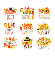 Happy child holiday colorful graphic design vector