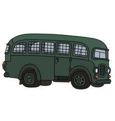 Old prison bus vector