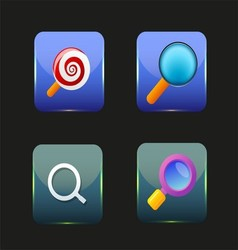 Search icon colorful collection vector
