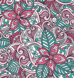 indian floral seamless pattern vector image