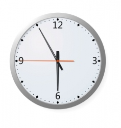 clock on a wall vector