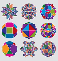 Collection of complex dimensional spheres and vector