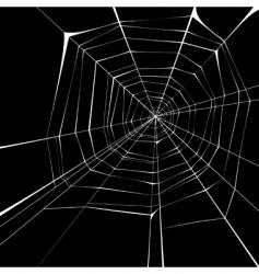 spider web background vector image