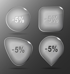 -5 glass buttons vector