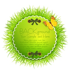 Eco green grass background vector