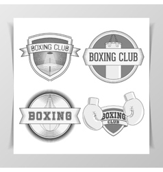Set of vintage boxing labels vector