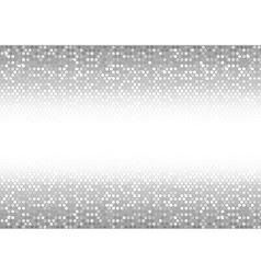 Mosaic Dots in Silver Tones vector image