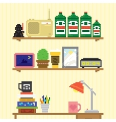 Teenager room workplace vector image