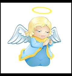 little angel in blue isolated vector image