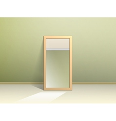 The mirror on the floor vector
