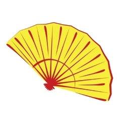 Chinese folding fan isolated on white vector