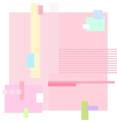 Abstract geometric pink background vector