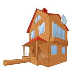 Bird house deluxe 2 vector