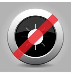 gray chrome button - no sunny vector image