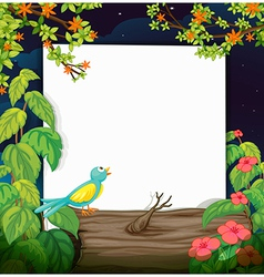 A bird and a white board vector image vector image