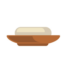 a piece of soap in dish vector image