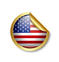 American sticker vector image vector image