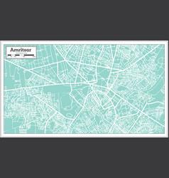 Amritsar india city map in retro style vector