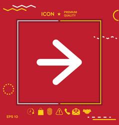 Arrow next icon vector