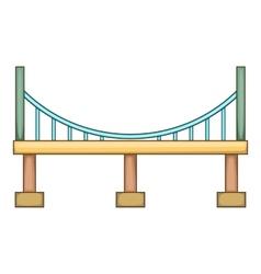 Big bridge icon cartoon style vector