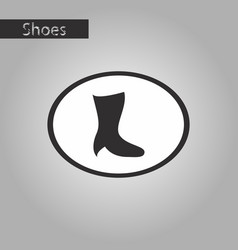 black and white style icon high-heeled boots vector image