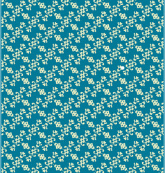 blue decorative pattern backdrop vector image vector image