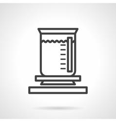 Chemical liquid burner simple line icon vector