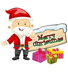 Christmas theme with santa and christmas presents vector
