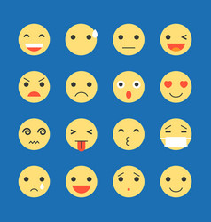 Emoji icon set vector