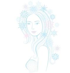 Fantasy snowflake maiden vector