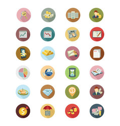Financial flat icons 4 vector