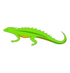 Green lizard icon cartoon style vector