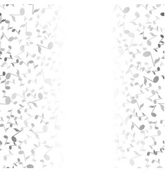 Grey musical notes pattern vector