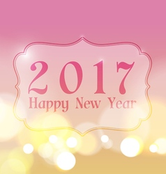 Happy new year 2017 on bokeh lights background vector