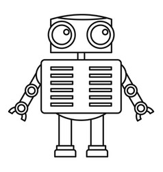 Humanoid robot icon outline style vector