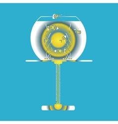 icon with aquarium vector image
