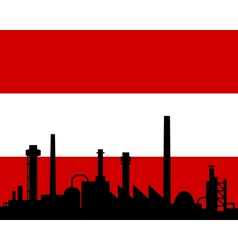 industry and flag of austria vector image vector image
