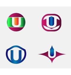 Letter U Logo alphabet design element vector image