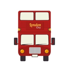 london bus uk icon graphic vector image vector image