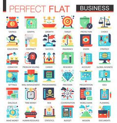 modern business complex flat icon vector image vector image