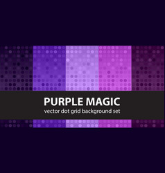 polka dot pattern set purple magic seamless vector image vector image