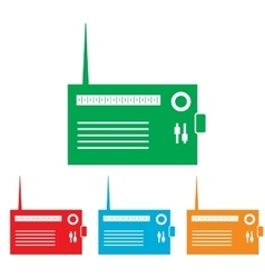 Radio sign Colorfull set vector image vector image