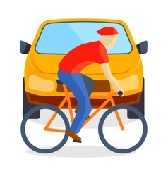 Sad running man at road death accident scene vector
