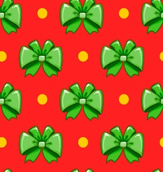 Seamless pattern cute cartoon bows-6 vector image vector image