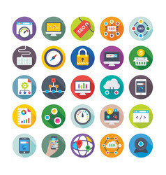 Seo and digital marketing icons 3 vector