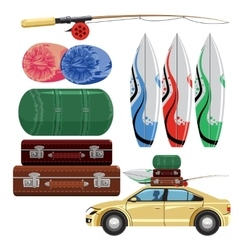 set of travel vector image