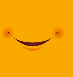 smile with small red cheeks as part of smiley vector image