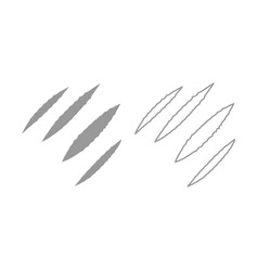 Trail of claws icon grey set vector