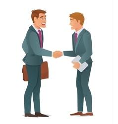 Handshake business men vector